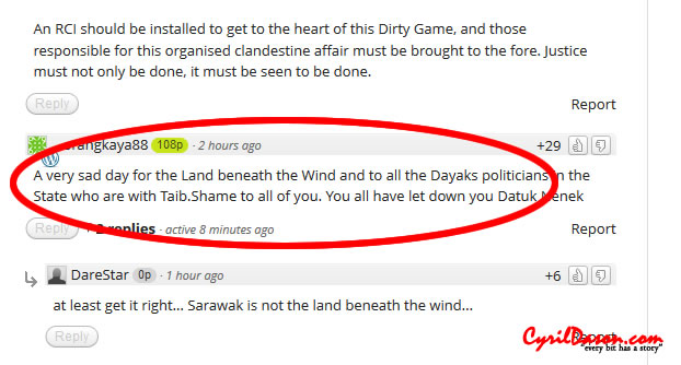 Even the description of Sarawak is wrong, and you tell us what to do.
