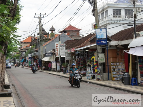 A street in Legian, Bali during the day