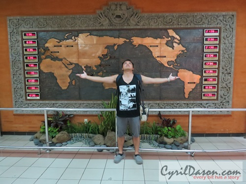 Signature pose in front of the world map. Someday, these trips will go beyond ASEAN.