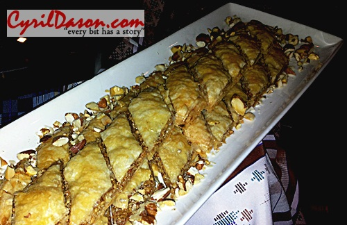 Arabic Baklava - This was superb. Fitting for desserts.