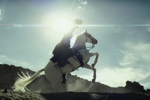 The trademark pose of the Lone Ranger. This was also a funny scene.