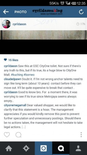 Check out the last section from CityOne Megamall.