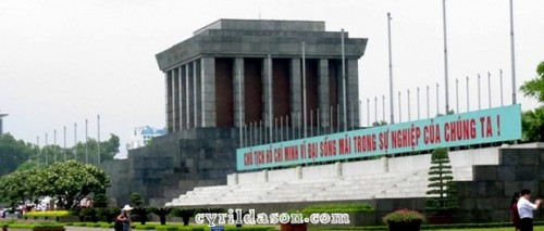 The Ho Chi Minh Memorial in Vietnam. Massive place!