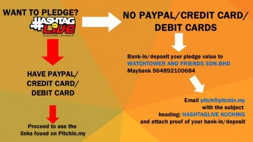 How to pledge for HashtagLive Kuching