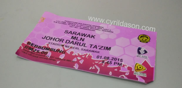 Sarawak football ticket