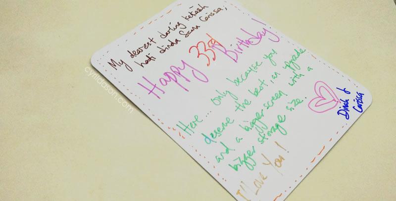 33 birthday card