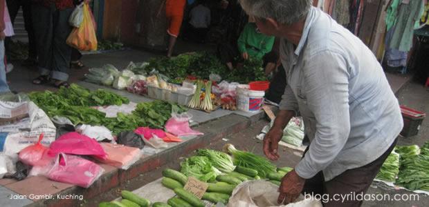 Vege seller, Jalan Gambir kuching