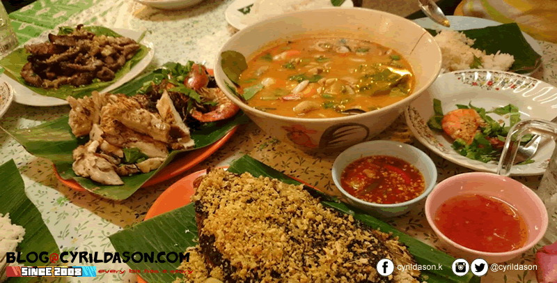Meals in Krabi. Portion can be small, but it comes with the relatively cheap prices