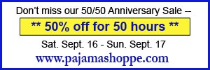 Don't miss our 50% Off for 50 Hours Anniversary Sitewide Sale Sept. 16th - 17th only!