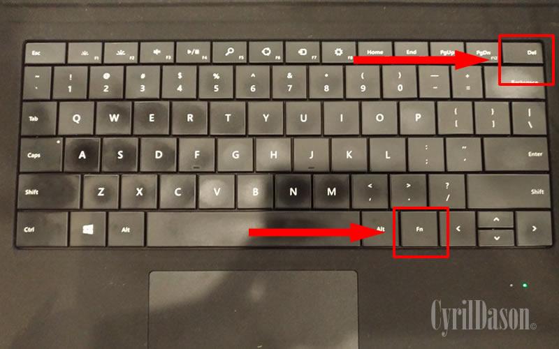 Activate keyboard back-lit
