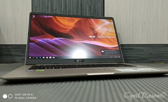 ASUS VivoBook S from front