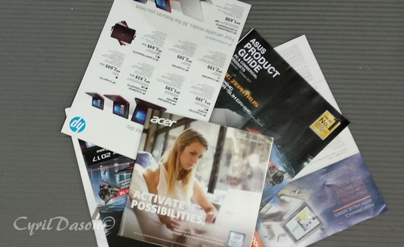 Computer brochures