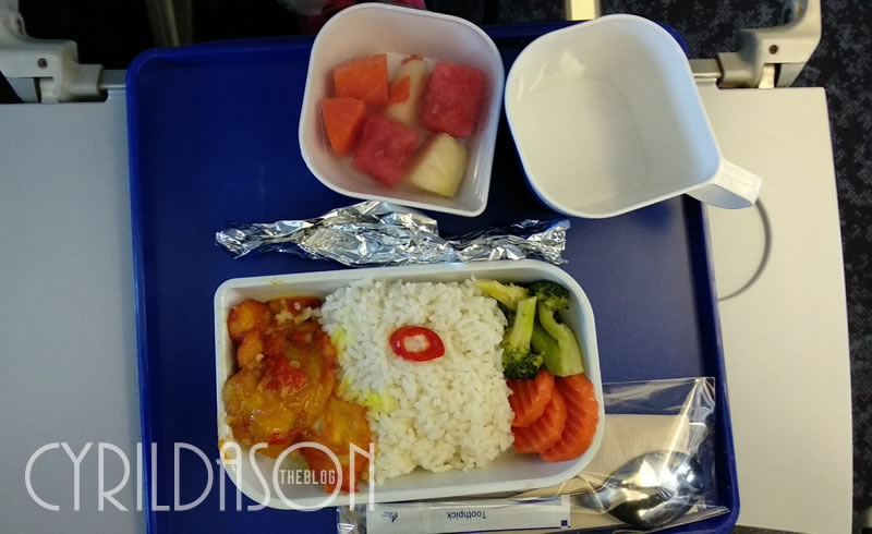 Food served onboard Bangkok Airways
