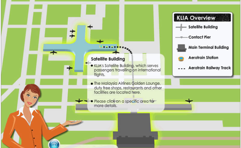 KLIA Main Satellite Building. Image from KLIA Website.