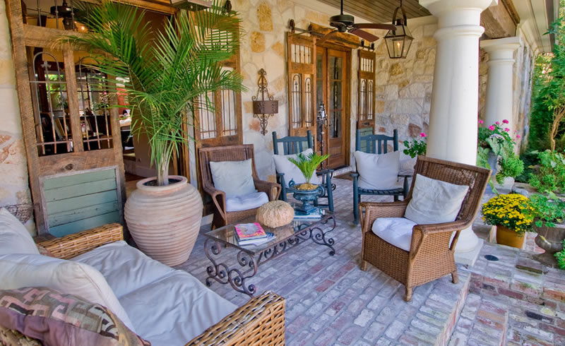 A nice patio design with cushion
