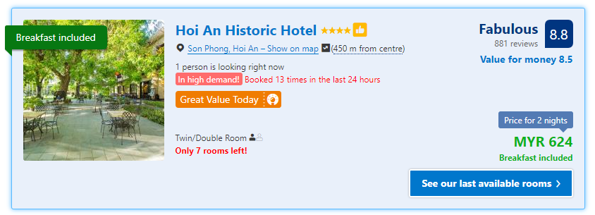 Hoi An Historic Hotel rates