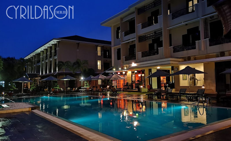 Hoi An Historic Hotel pool at night