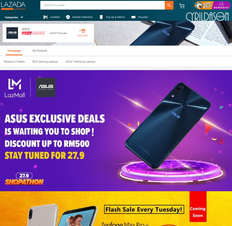 Brands on Lazada